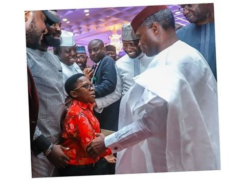 Chinedu Ikedieze Meeting With Yemi Osinbajo (2)
