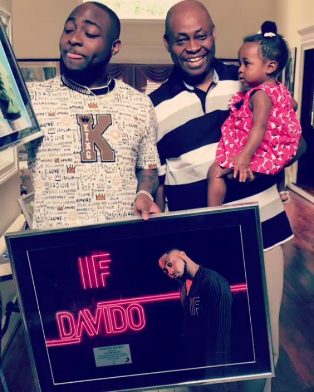 Davido Shares Beautiful 3 Generation Photo (3)