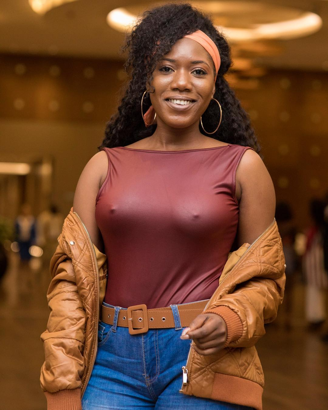 Victoria Lebene Flashes Nipples At MzVee's Birthday Bash (2)