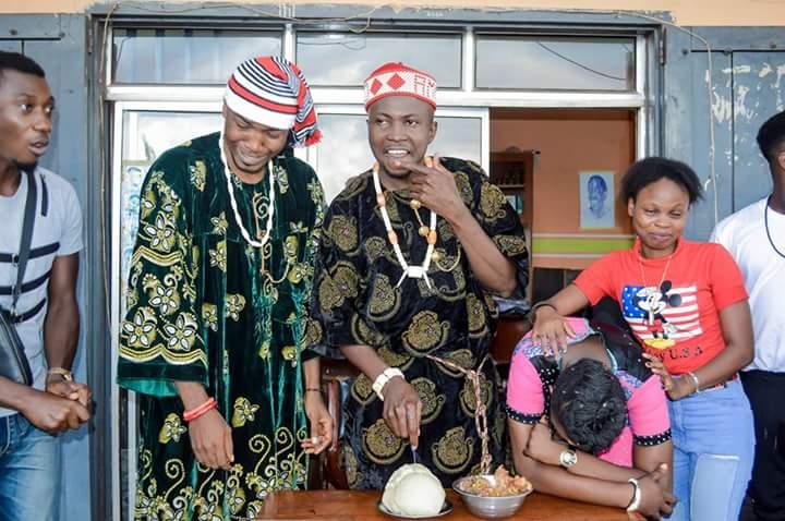 Igbo Man Uses Fufu And Egusi Soup As Birthday Cake