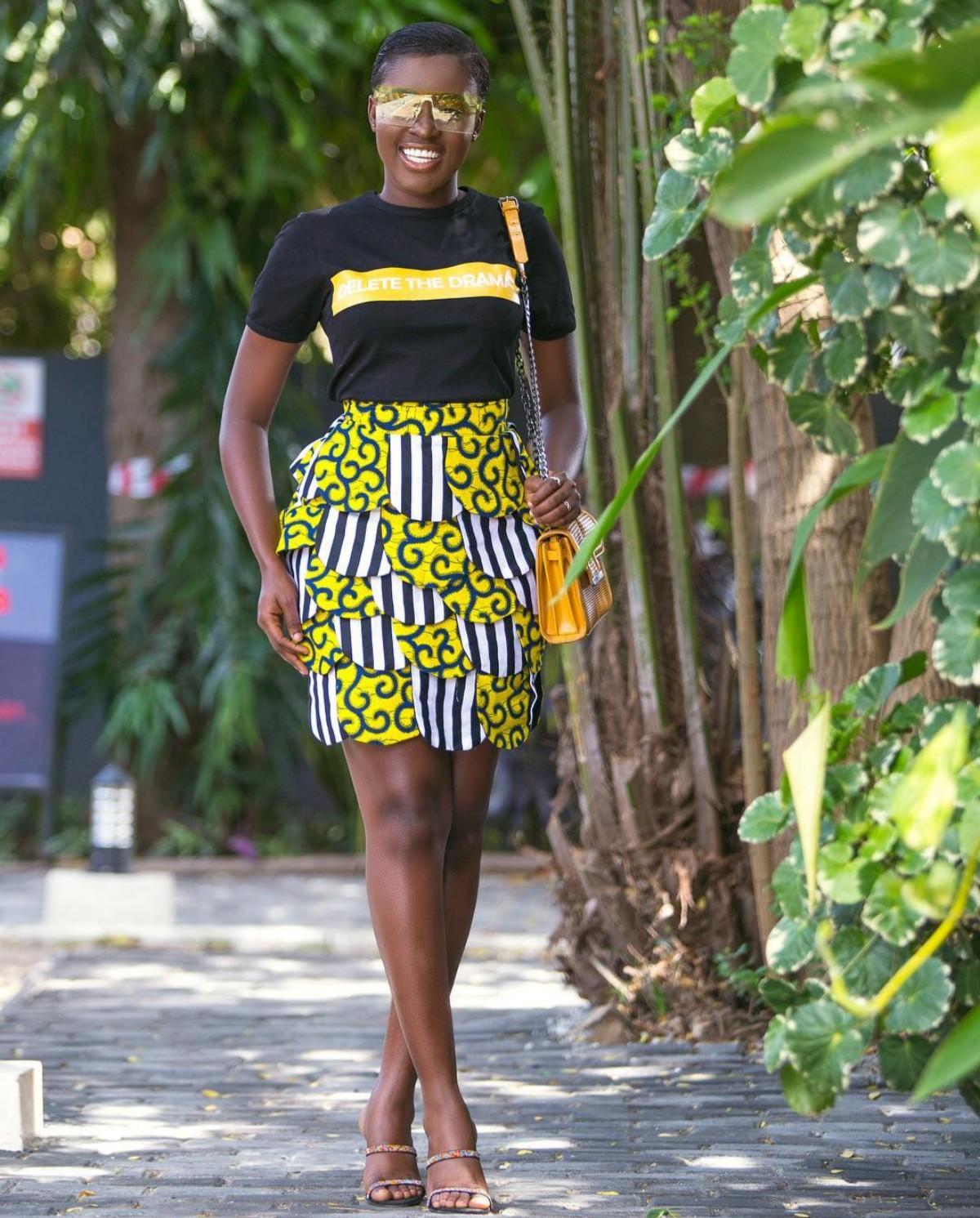 Fella Makafui  DELETE THE DRAMA T-shirt