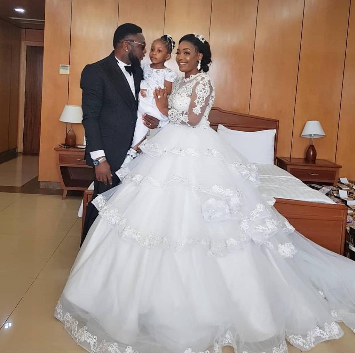 Tchidi Chikere And Nuella Njubigbo Wed In Church (2)