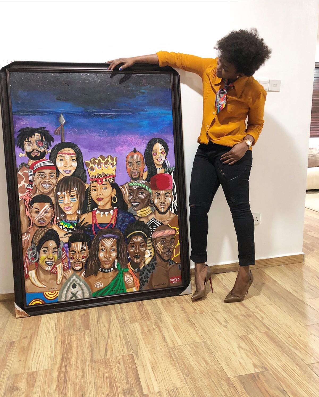 Genevieve Nnaji Painted As A Queen (2)