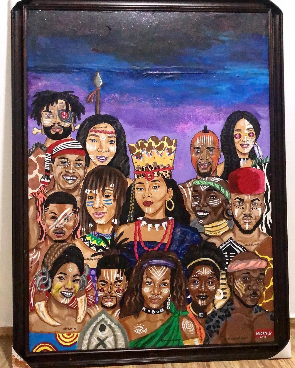 Genevieve Nnaji Painted As A Queen