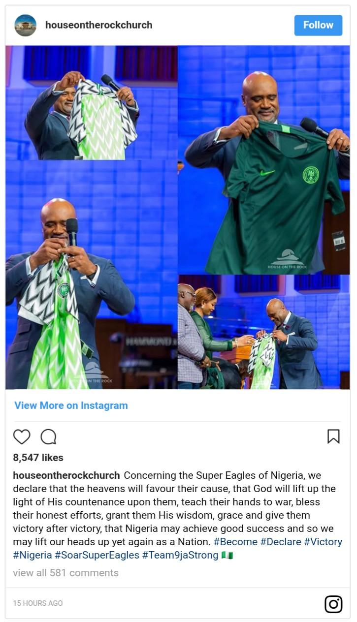 Pastor Paul Adefarasin Prays For Super Eagles (2)