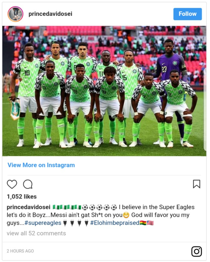 Prince David Osei Throws Support Behind Super Eagles (2)