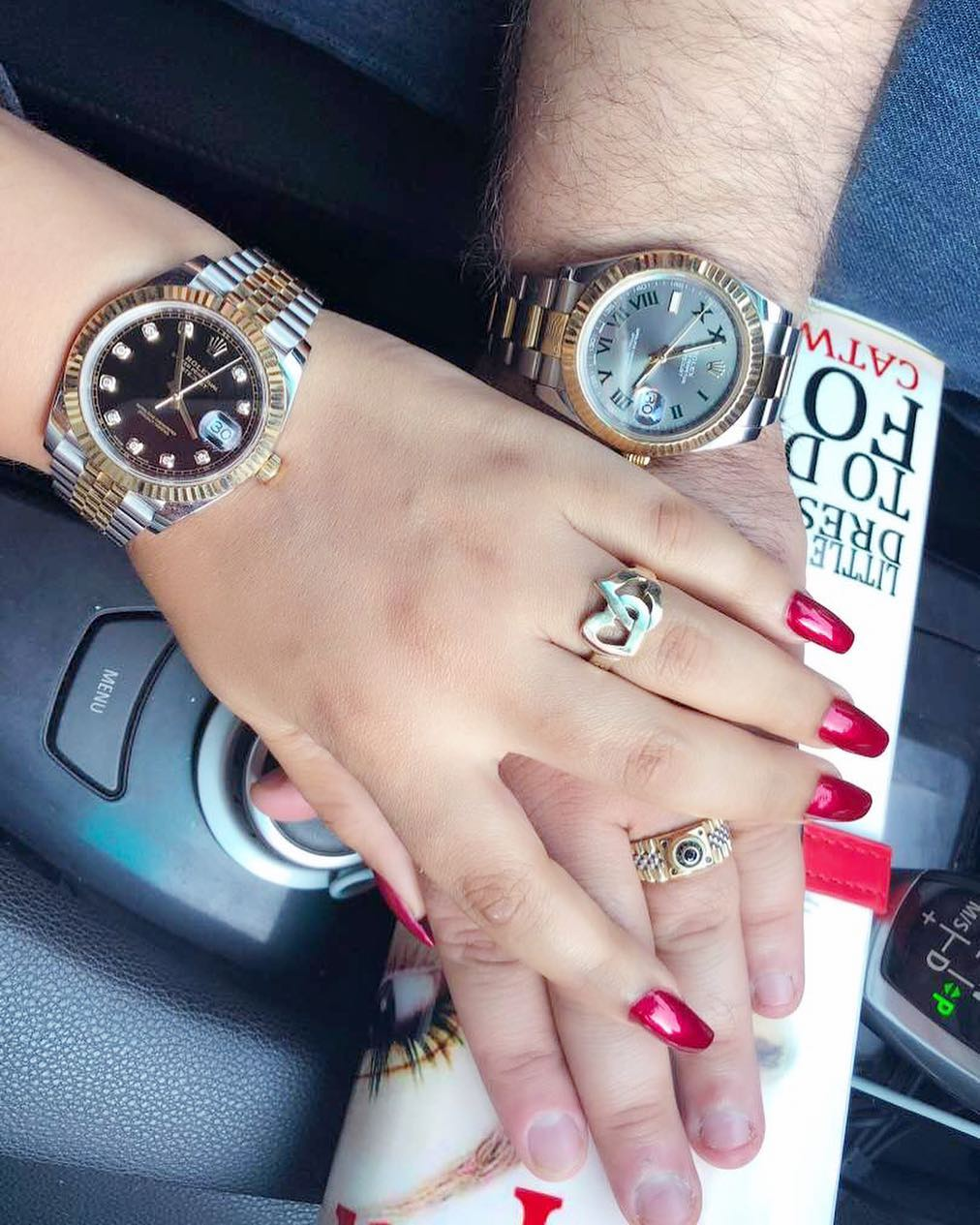 Nadia Buari And Her Baby Daddy Rock 'His & Hers' Rolex Watches (2)