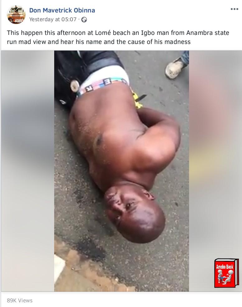 Nigerian Man Runs Mad In Togo Beach (4)