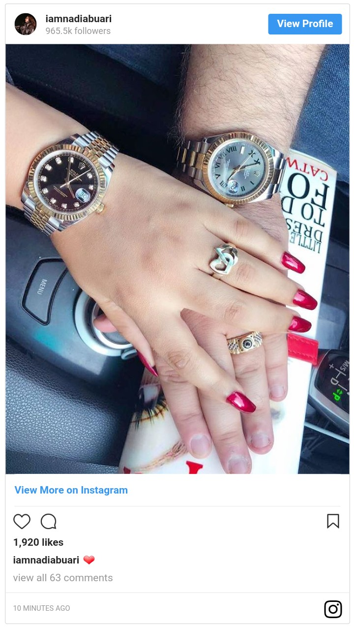 Nadia Buari And Her Baby Daddy Rock 'His & Hers' Rolex Watches (3)