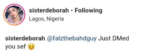 Sister Deborah Exposes Falz After He Slid Into Her DM (3)