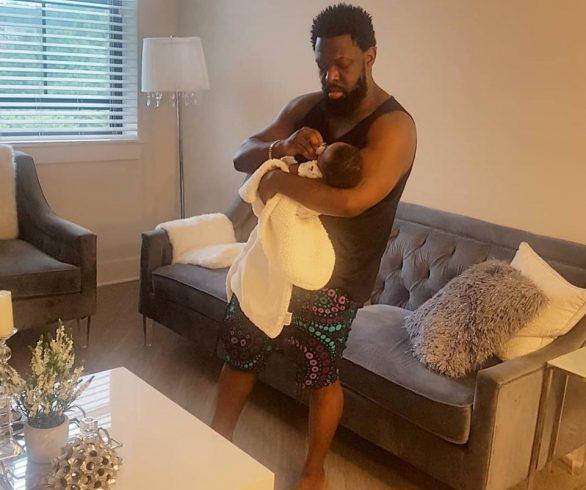 Timaya Celebrates His Birthday As He Cuddles His Son