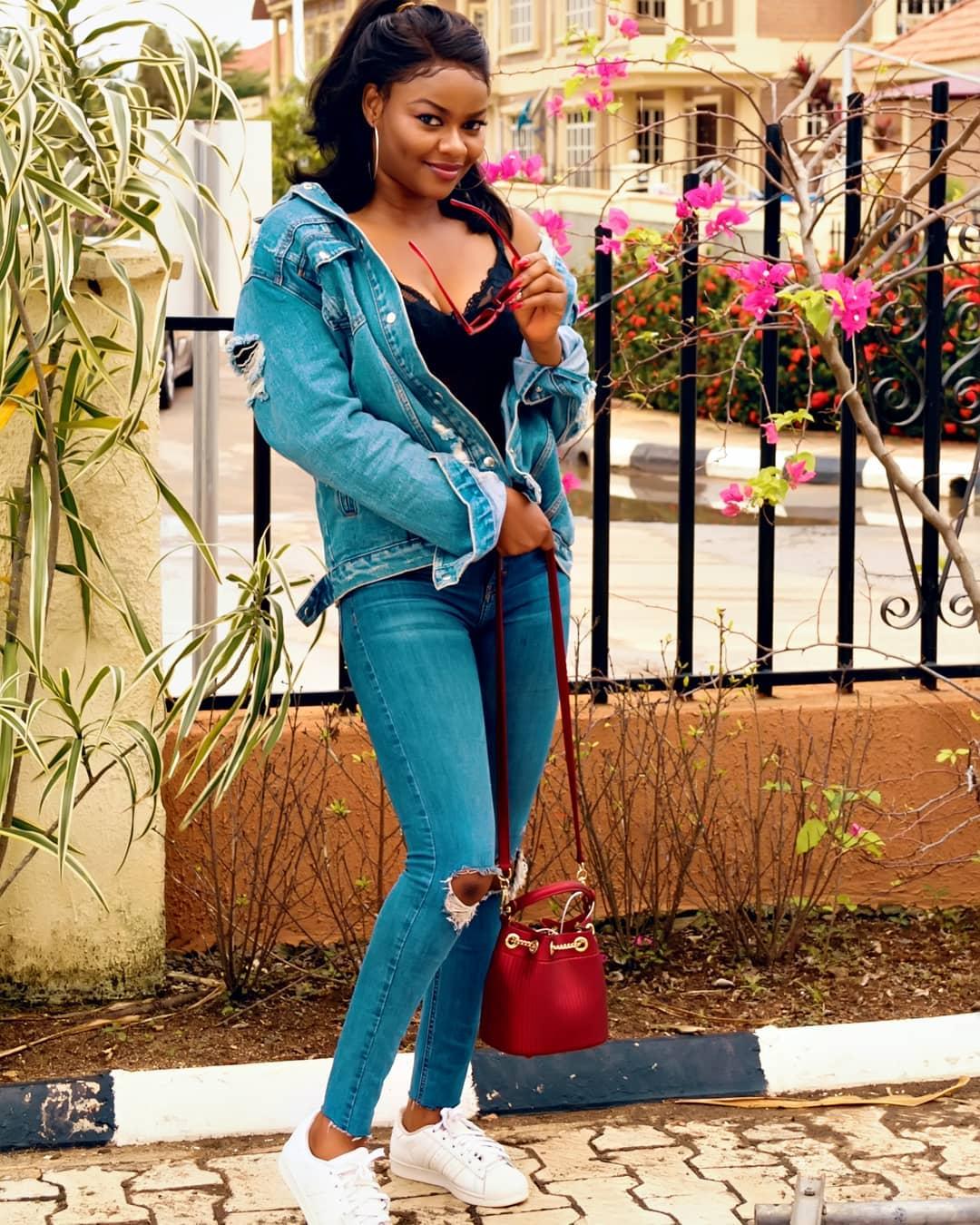 Kehinde Bankole Rocks Denim Outfit (3)