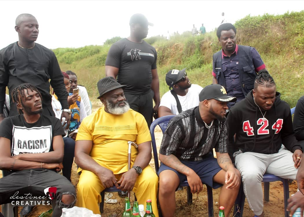 Harry B Anyanwu And Davido Pictured On Set Of Duncan Mighty's Music Video (4)