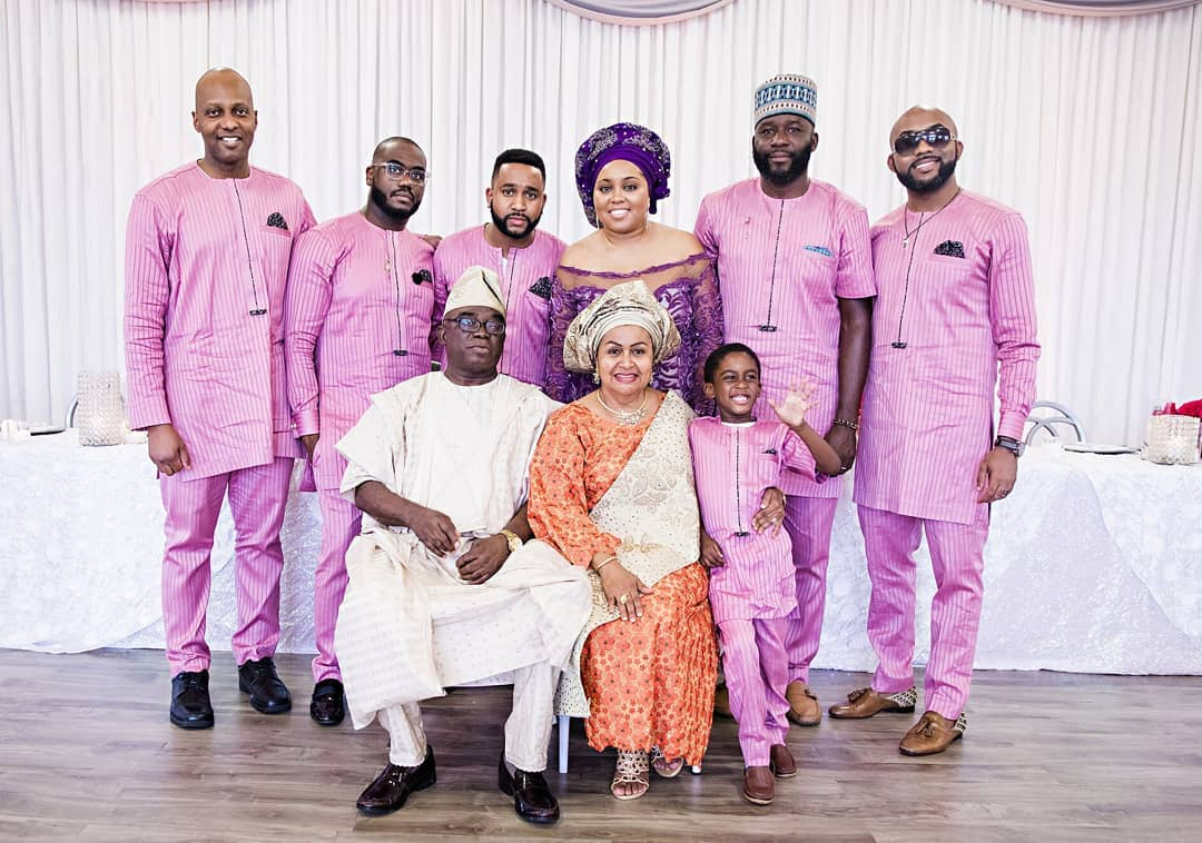 Family Photo From Banky W's Parents 40th Anniversary
