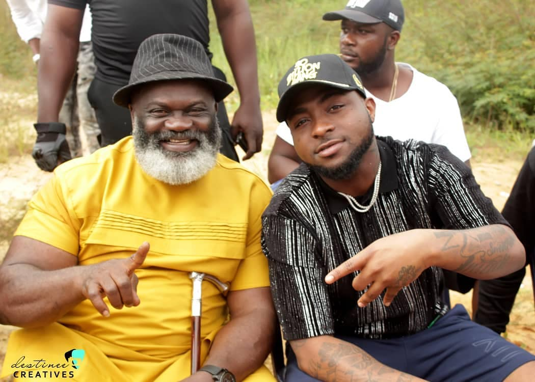 Harry B Anyanwu And Davido Pictured On Set Of Duncan Mighty's Music Video