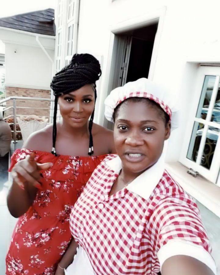 Mercy Johnson And Chizzy Alichi Goof Around (2)