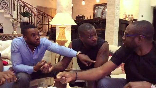 Peter Okoye And Williams Uchemba Eating Suya (3)