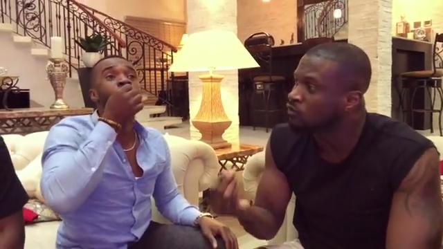 Peter Okoye And Williams Uchemba Eating Suya (7)