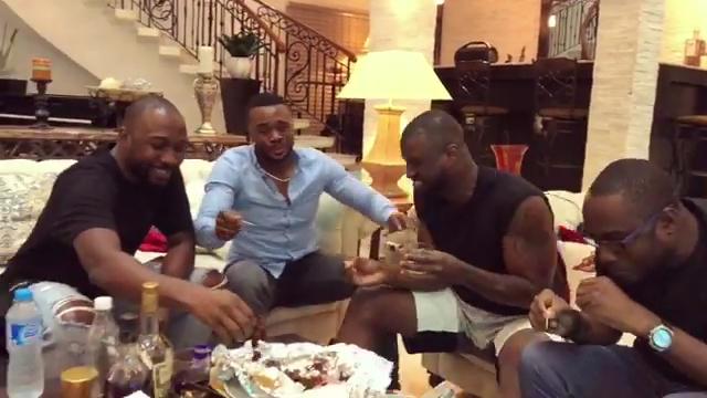 Peter Okoye And Williams Uchemba Eating Suya (8)