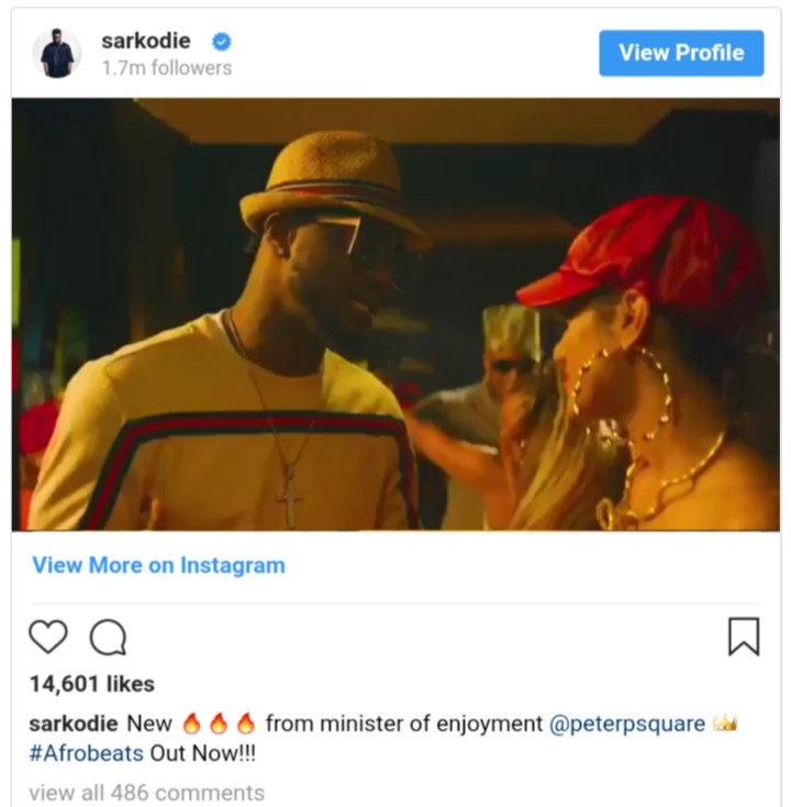Ghanaians Lash Out At Sarkodie After He Shared Peter Okoye Song (2)