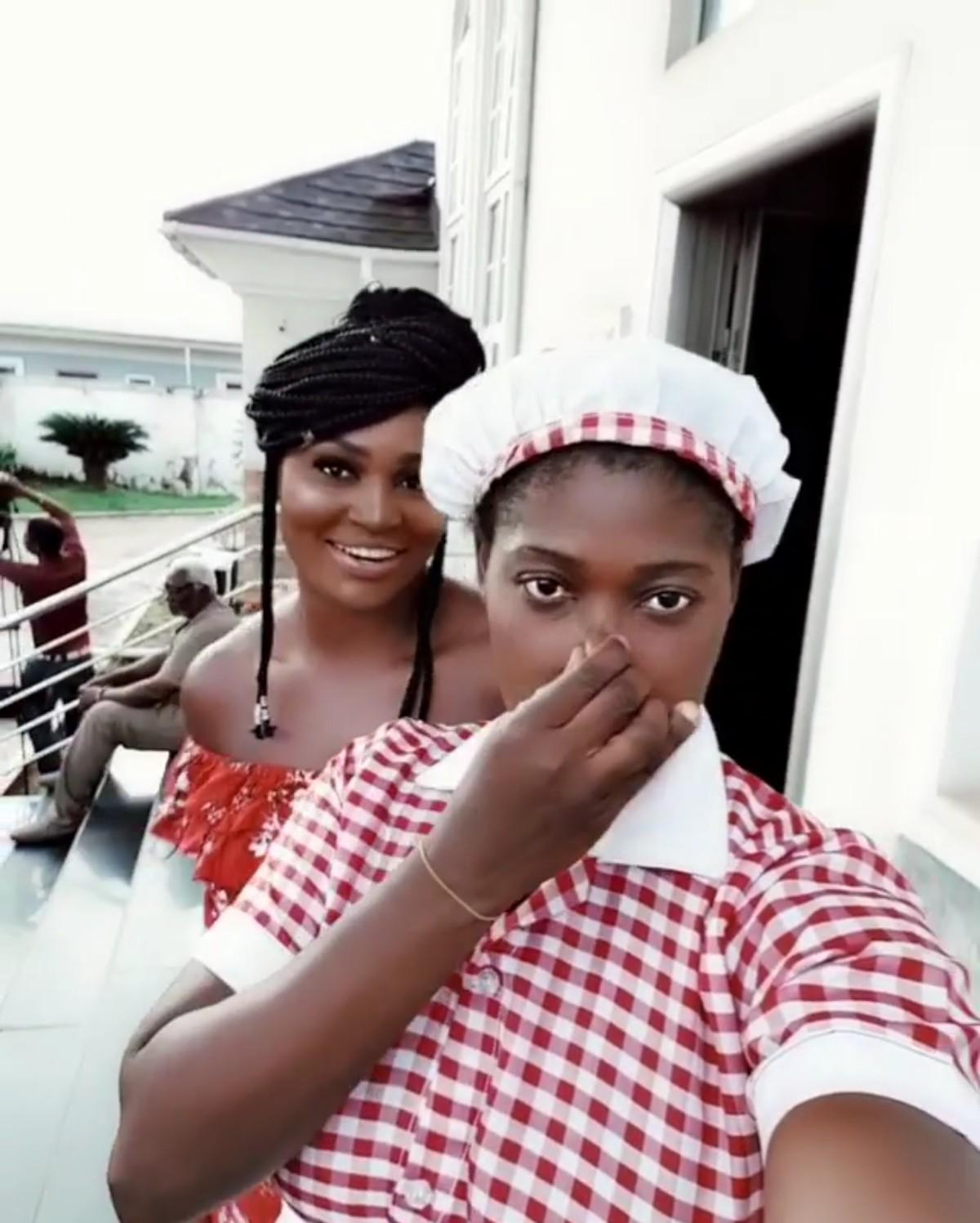 Mercy Johnson And Chizzy Alichi Goof Around (3)