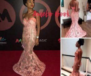 Belinda Effah Illusion Mermaid Dress AMVCA2018