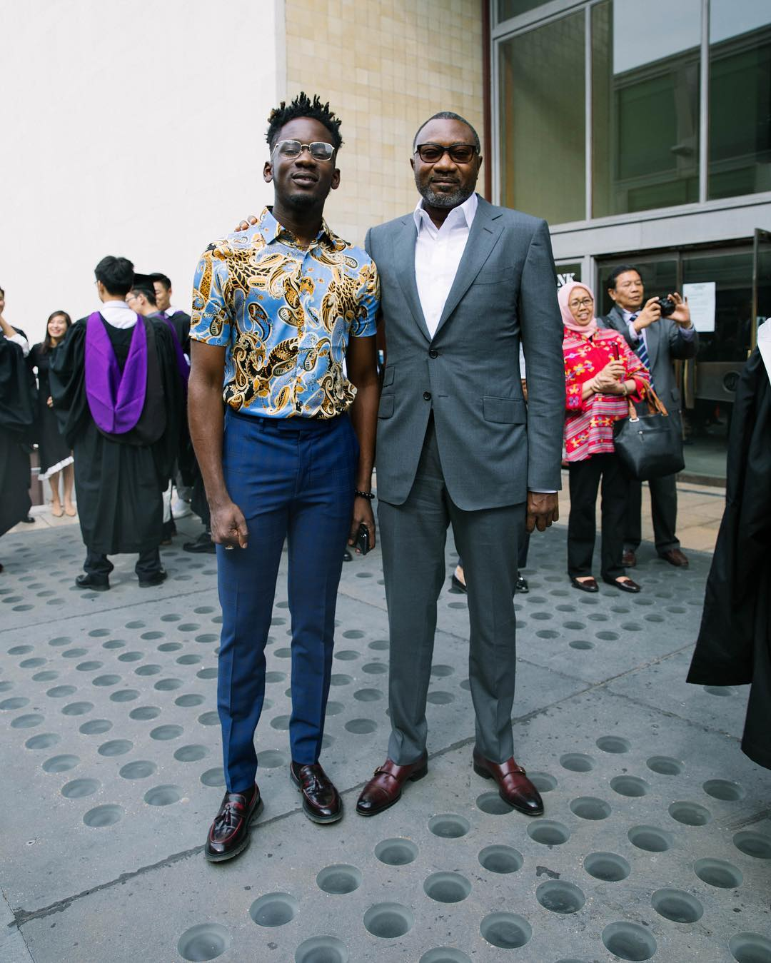 Mr Eazi With Femi Otedola At Temi Graduation Lunch