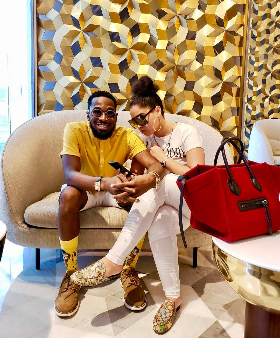 D'Banj With Wife Lineo Didi Kilgrow In Dubai