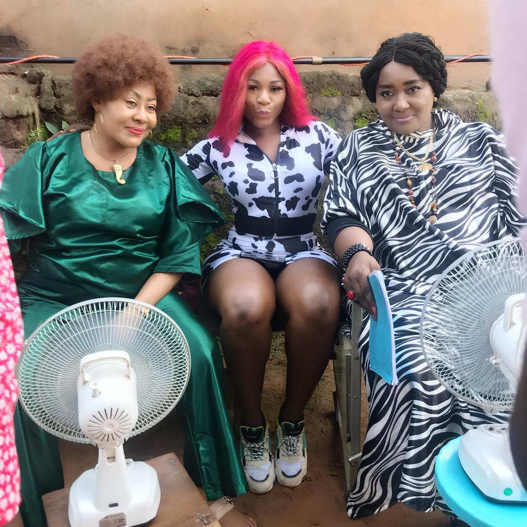 Destiny Etiko Poses With Ngozi Ezeonu And Ebele Okaro