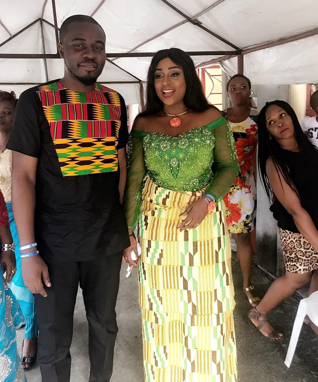 Queen Wokoma Shows Off Baby Bump To Celebrate 1st Wedding Anniversary (3)
