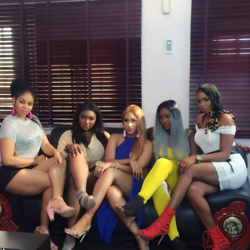 Juliet Ibrahim And Chizzy Alichi On Set Small Girls With Big God (3)