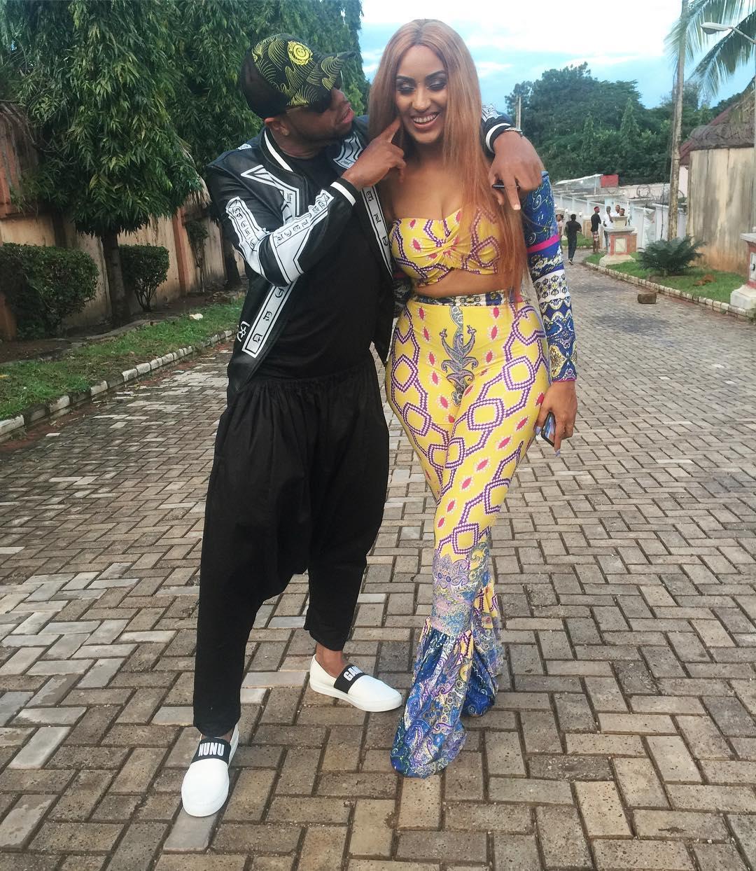 Charles Okocha With Juliet Ibrahim On Set Small Girls With Big God