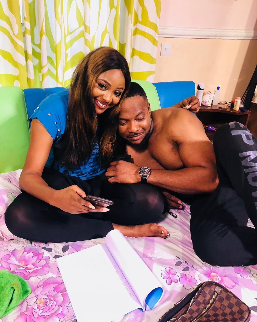 Bolanle Ninalowo And Mary Lazarus Are Inseperable On Set (4)