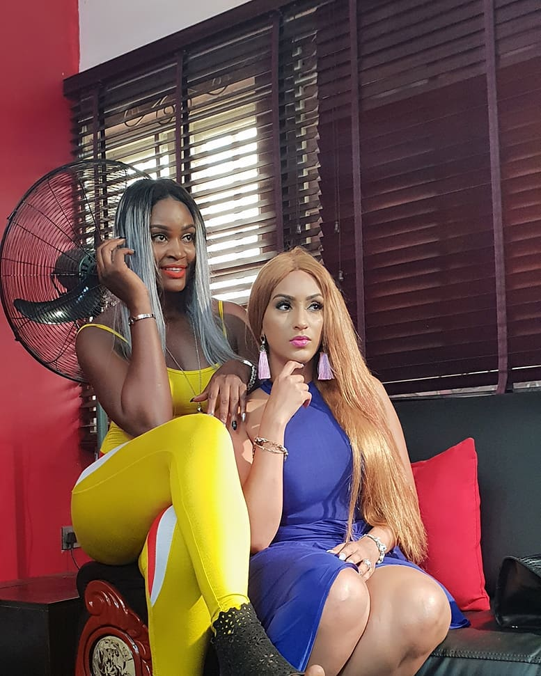 Juliet Ibrahim And Chizzy Alichi On Set Small Girls With Big God (2)