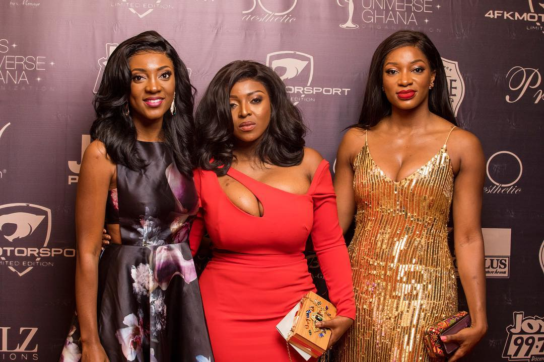 Yvonne Okoro With Sisters At 2018 Miss Universe Ghana