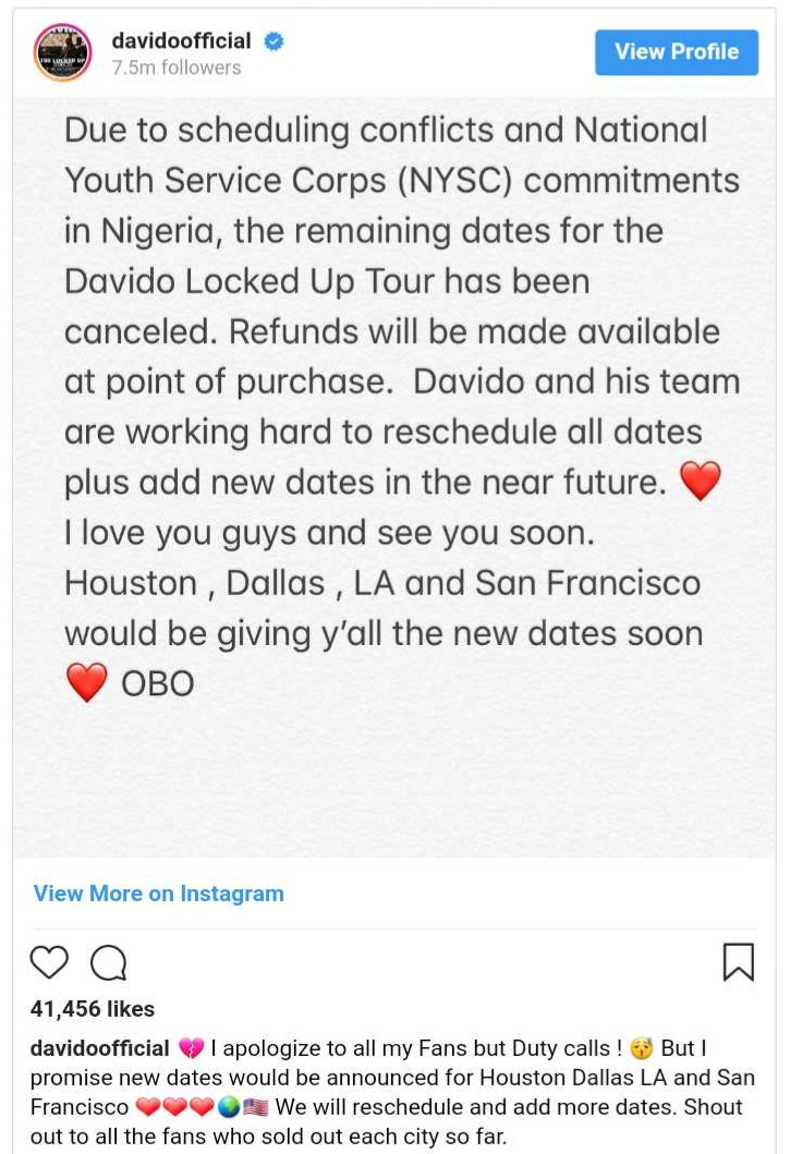 Davido US Cancelled Show (2)