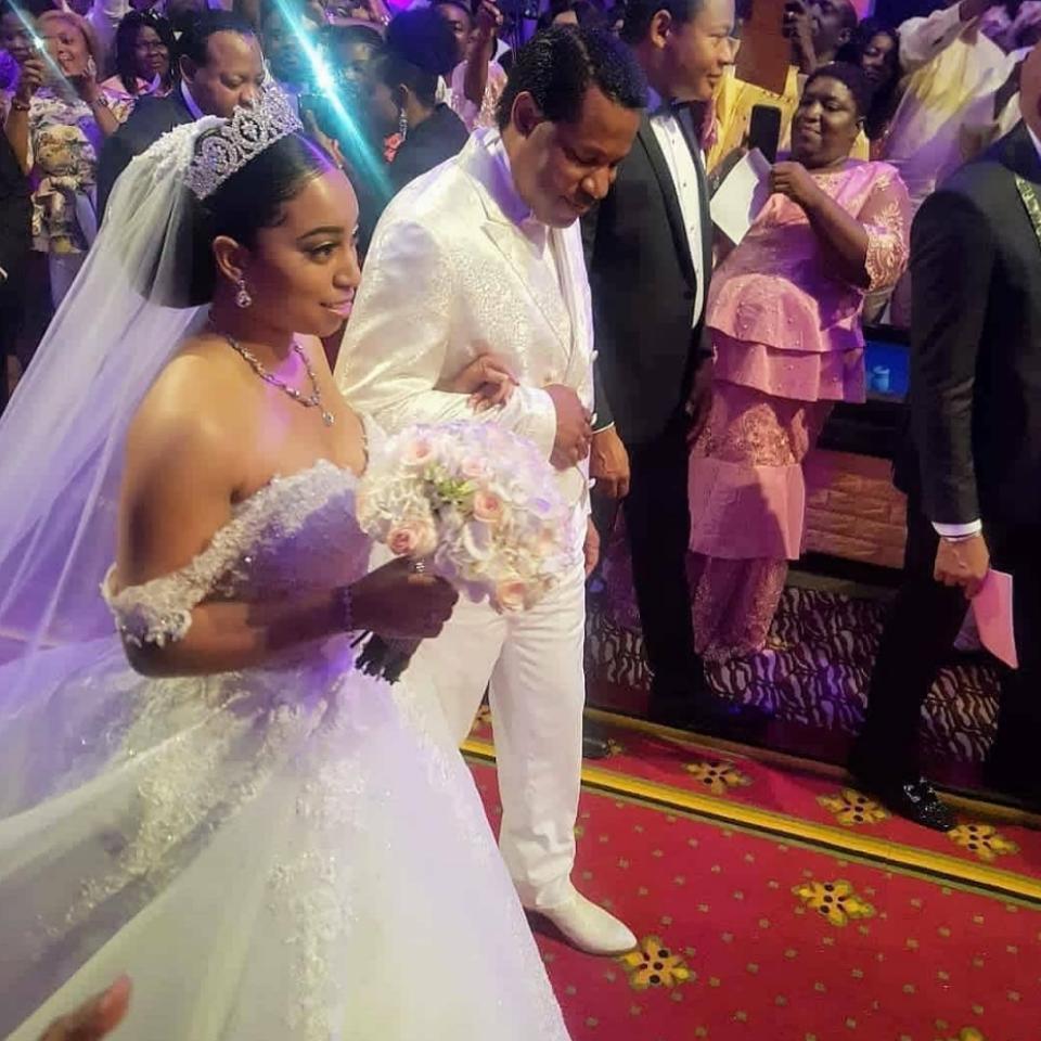 Sharon Oyakhilome And Philip Frimpong White Wedding