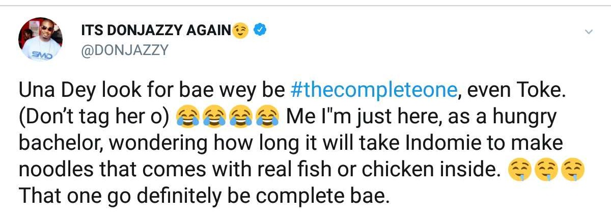 Don Jazzy Reveals To Toke Makinwa She's The Complete One (2)