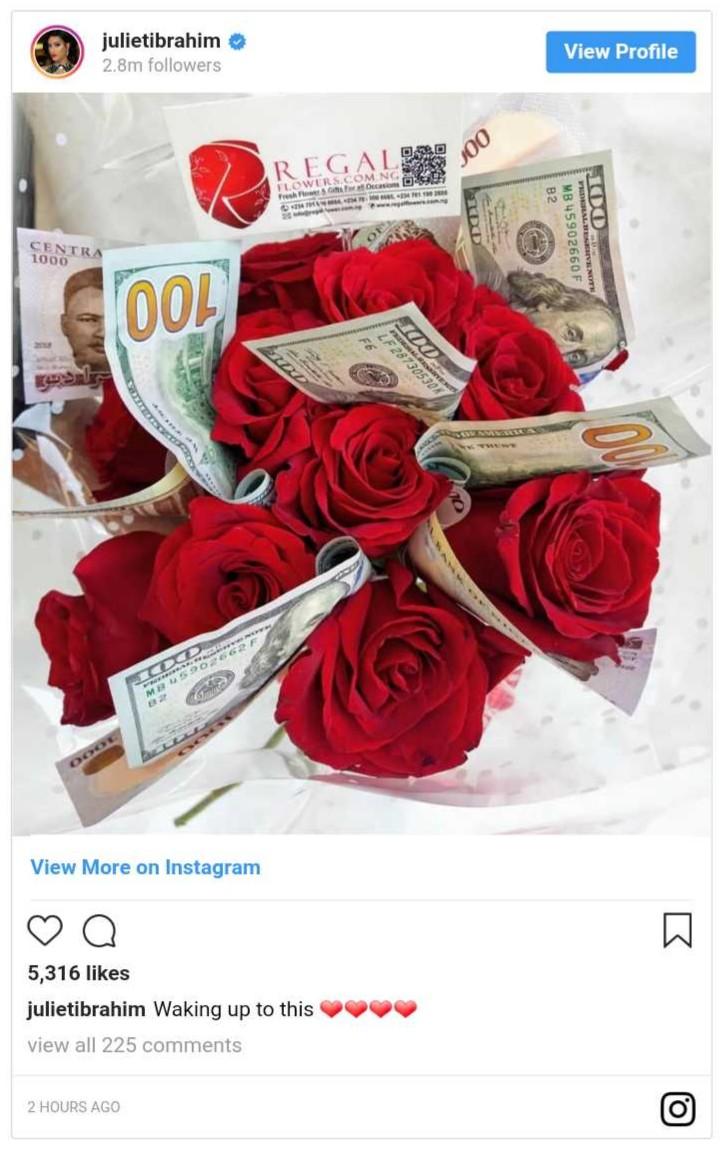 Juliet Ibrahim Woke Up To See Dollars And Breakfast (4)