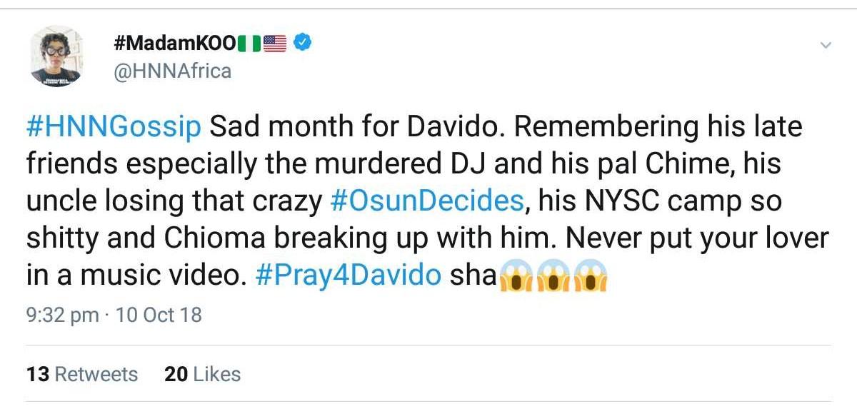 Chioma Has Broken Up With Davido — Kemi Olunloyo (2)