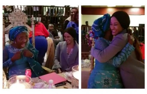 Moment Adesua Etomi Surprised Her Mum On Her 60th Birthday