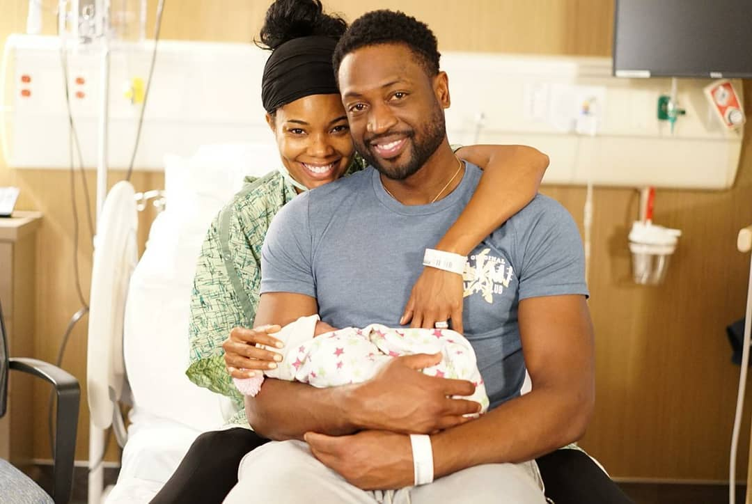 Gabrielle Union And Dwyane Wade Welcome Baby Girl (4)