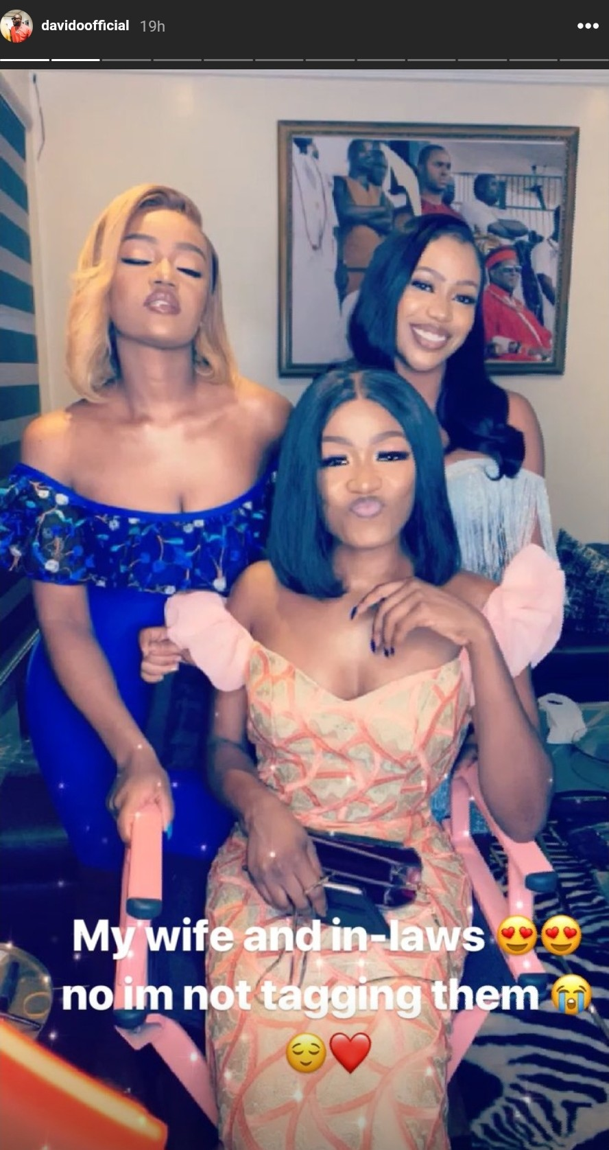 Davido Shares Clip Of Chioma And Her Sisters, Says