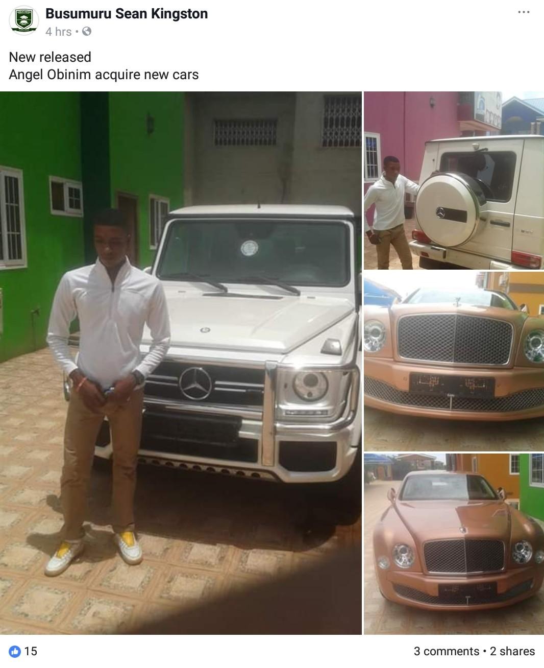 Obinim Buys Brand New Rolls Royce Ghost And G-Wagon (6)