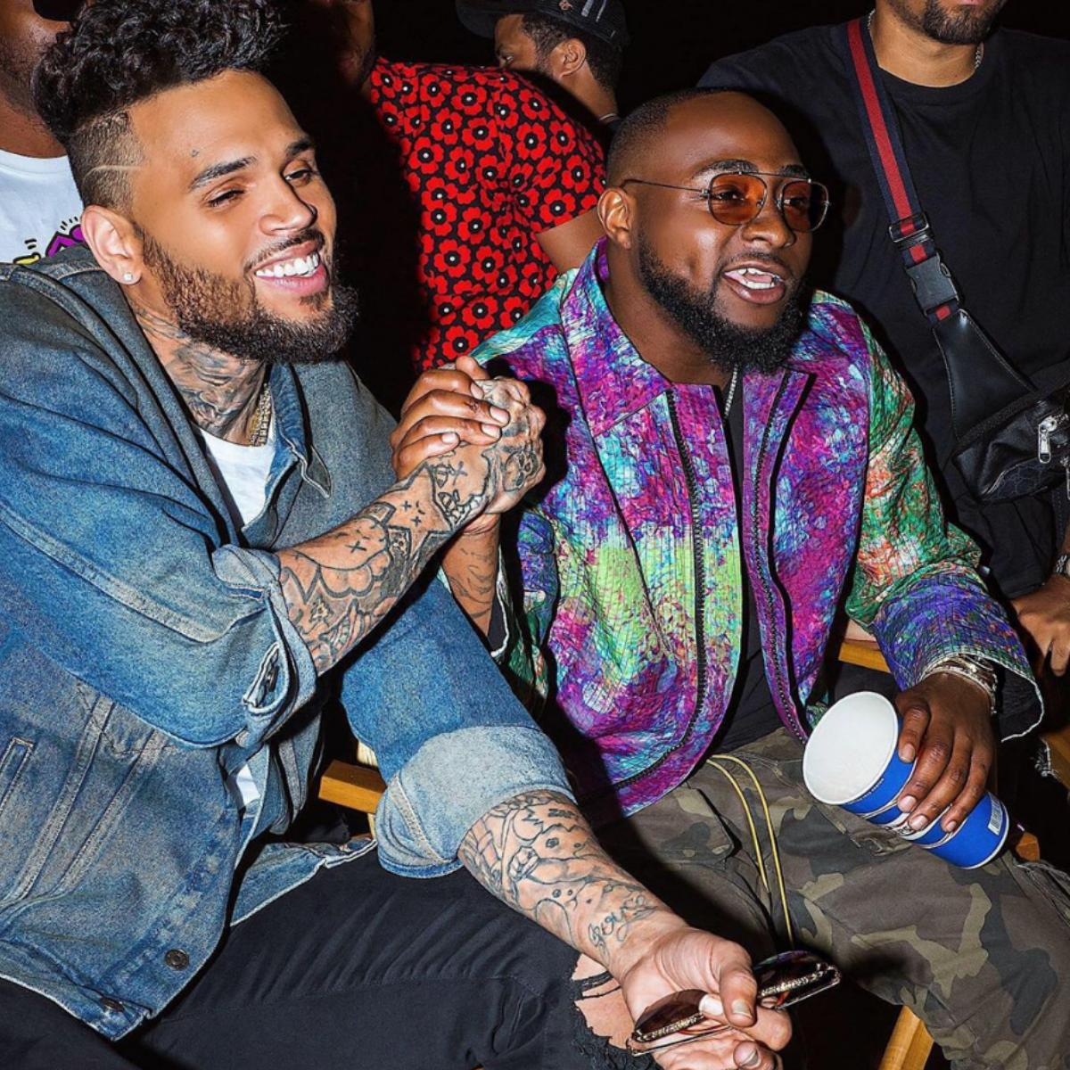Davido Praises Chris Brown For Dancing In The Rain