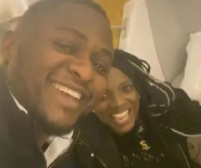 Annie Idibia Gives Ubi Franklin A Peck While On The Plane