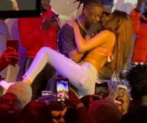 Female Fan Grinds Rema On Stage