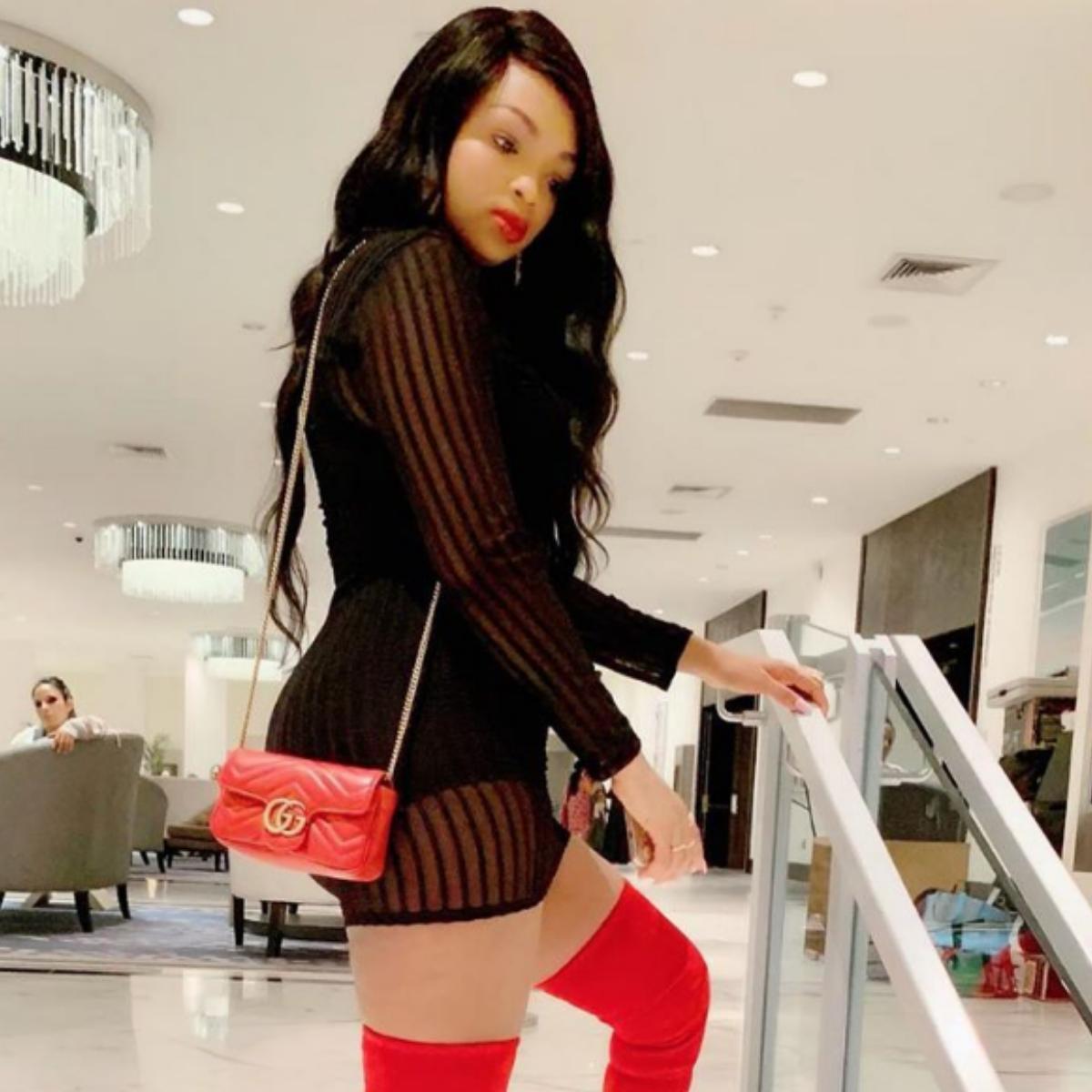 Binta Diamond Diallo Domination Garter Lingerie Set