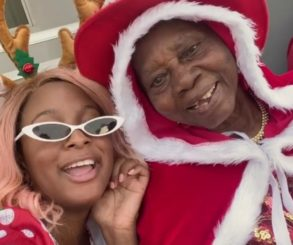 DJ Cuppy And Grandma Vibe To Gelato To Celebrate Christmas
