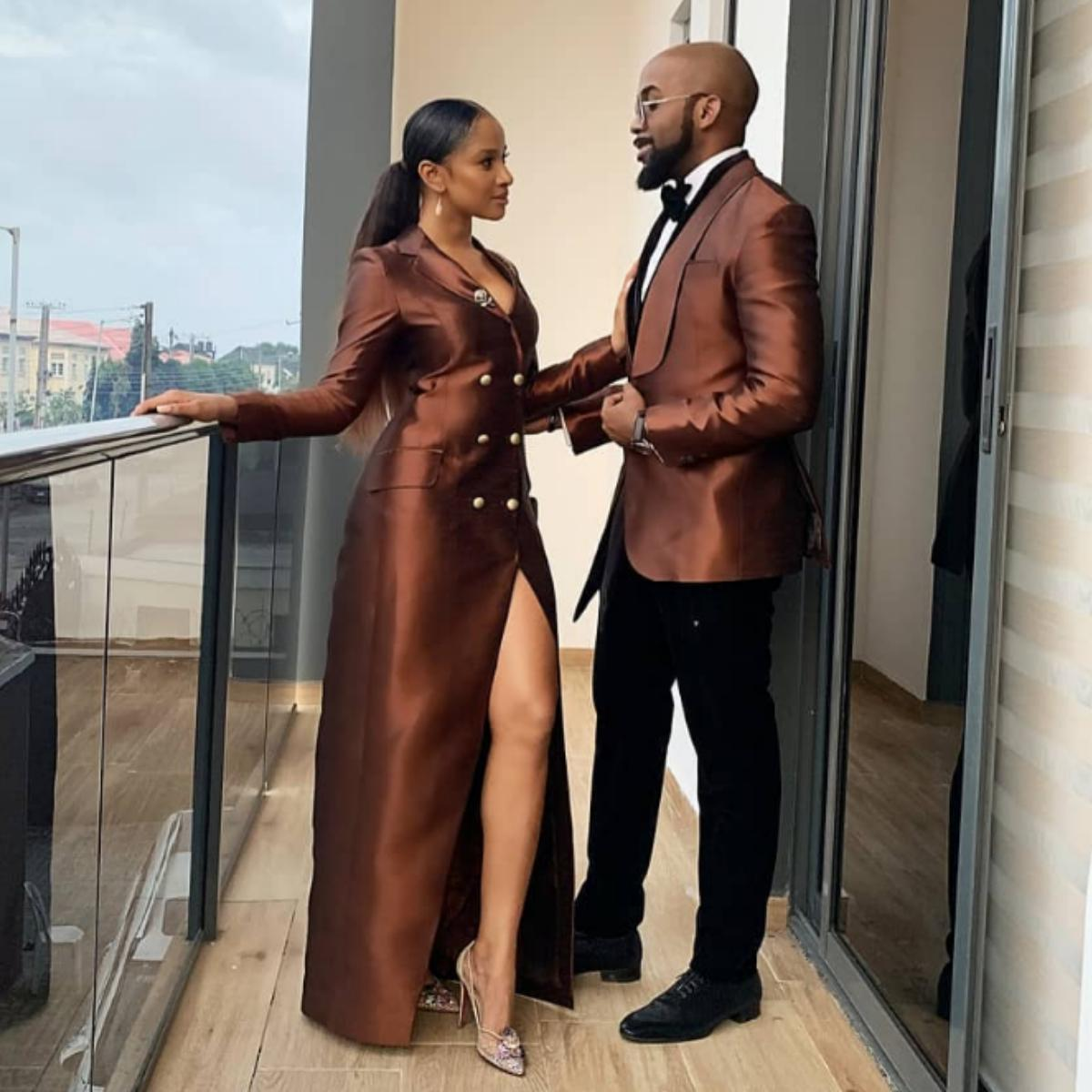 Adesua Etomi Celebrates Banky W On His Birthday